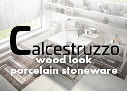 Calcestruzzo wood look porcelain stoneware