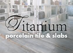 Titanium porcelain title & slabs